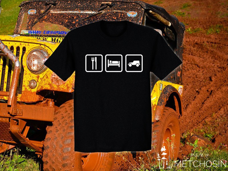 Eat Sleep Jeep T-shirt - Made in Metchosin