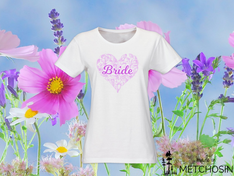 Bride T-shirt - Sketched Heart
