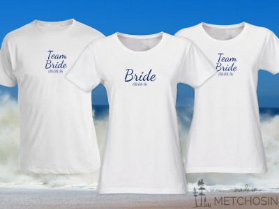 Bride T-shirt, text with date