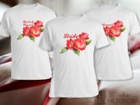 Bride t-shirt - watercolor flower