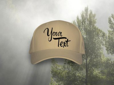 Hat customized with your text