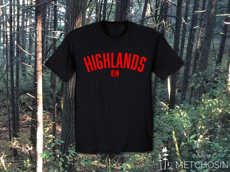 Highlands BC T-shirt