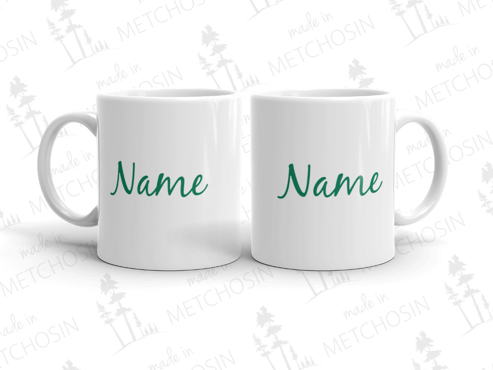 mug with name on both sides of mug