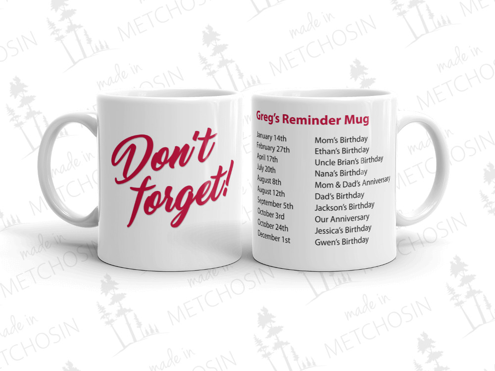 Reminder Mug - Don't forget