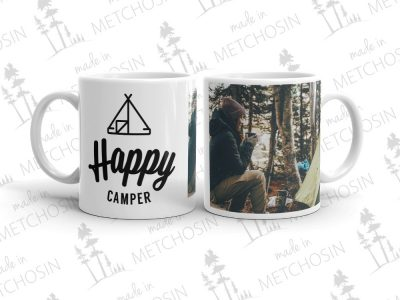 Happy Camper mug with your photo