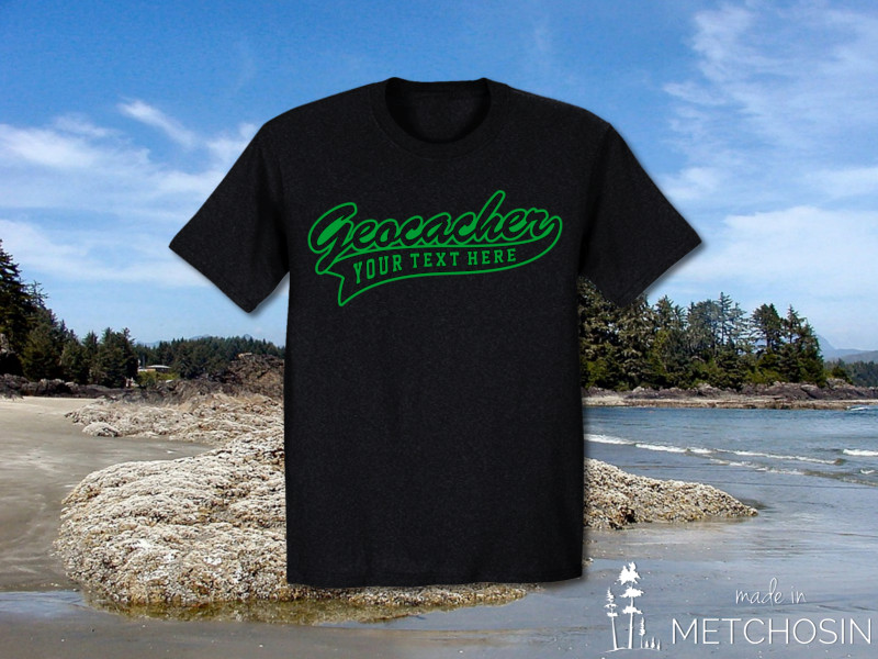 Customized geocacher tshirt
