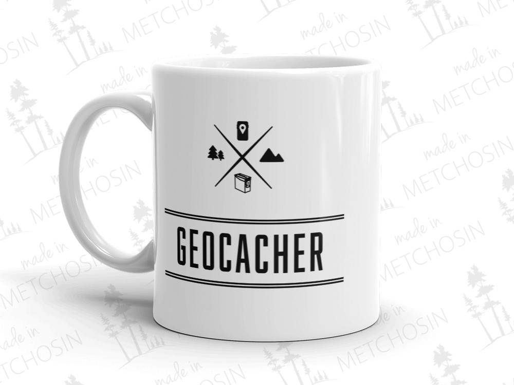 Geocaching icons mug
