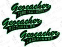 Personalized geocacher apparel