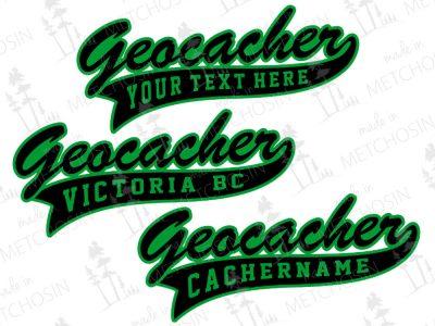 Personalized geocacher apparel