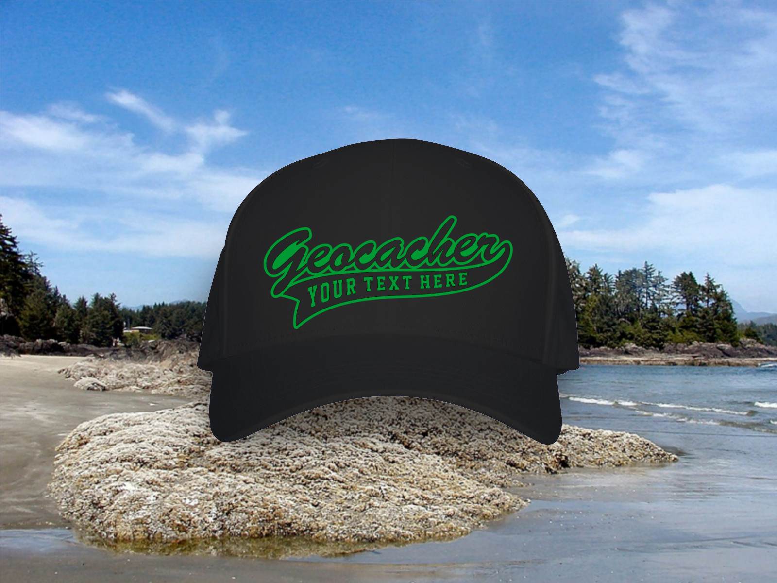 Personalized geocaching hat